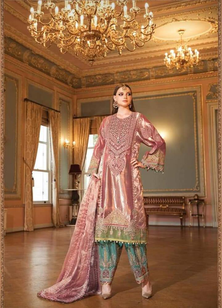 MARIA B MAISOORI EMBROIDERED DRESS