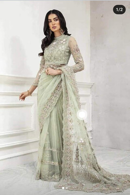 MARIA B NET SEQUENCE EMBROIDERED SAREE