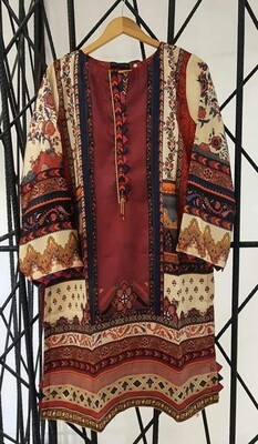 STITCHED PRINTED AND EMBROIDERED SILK SHIRTS BY SADABAHAAR