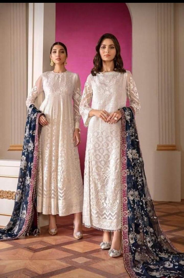 BAROUQE CHANTELLE CHIFFON EMBROIDERED DRESS