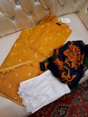 AGHA NOOR THREE PIECE DRESS