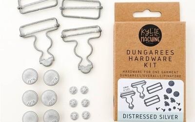 Dungaree Hardware Kit Distressed Silver
