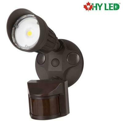 LED SECURITY MOTIOIN SENSOR LIGHTBROWN 10W 5000K 100DE HY HLE