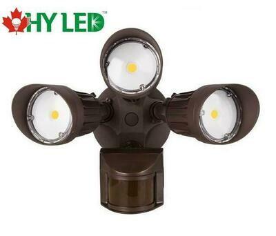 LED SECURITY MOTIOIN SENSOR LIGHT BROWN 30W 5000K 100DE HY HLE