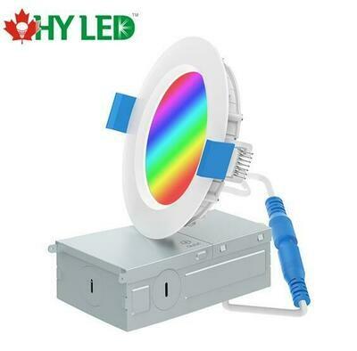 "LED RECESSED LIGHT DL 9W 4"" CCT+RGB CB18AY409WRZ HY HLE"