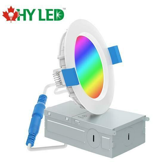 "LED RECESSED LIGHT DL 13W 6"" CCT+RGB CB18AY613WRZ HY HLE"