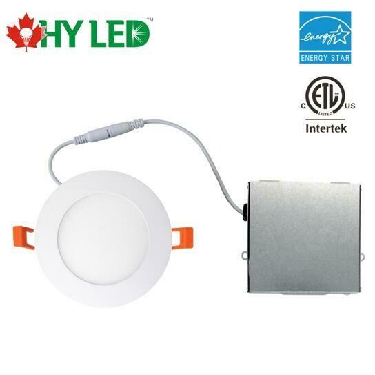 "LED RECESSED LIGHT DL 4"" 12W 5000K 110 DIM BOX WH HY YG"