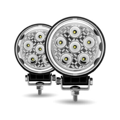 Round LED Work Lamps Dual Pack