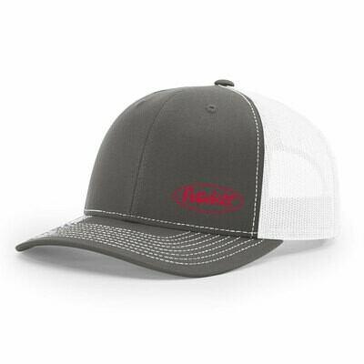 Peterbilt Classic Trucker Hat Charcoal and White