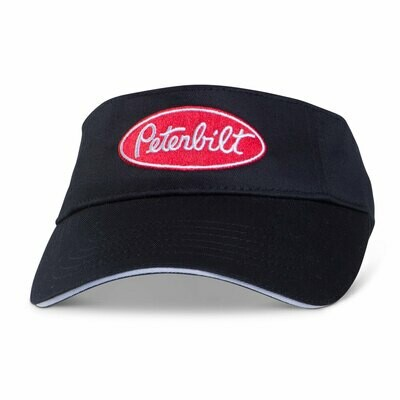 Black Visor with Red Peterbilt Logo