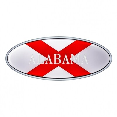 Die Cast Alabama Flag Emblem