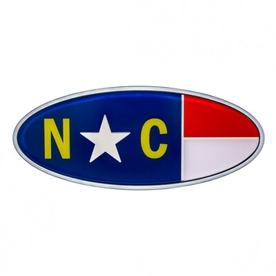 Die Cast North Carolina Flag Emblem