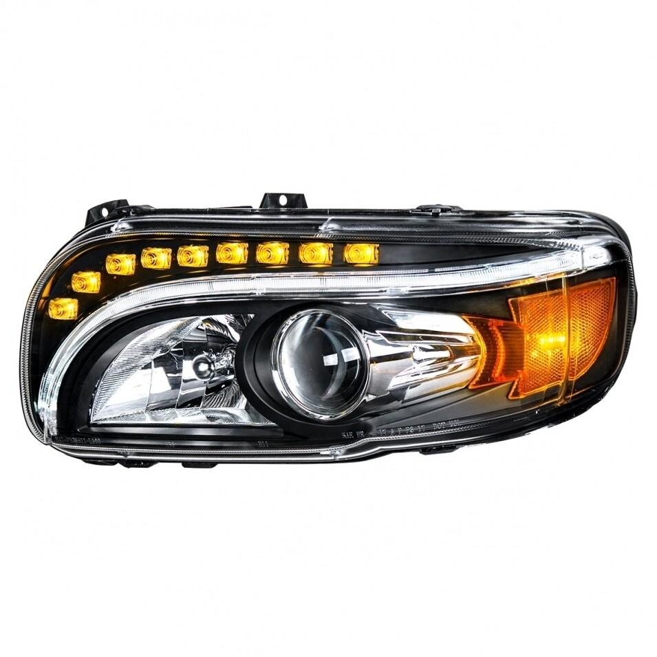 Peterbilt 389 Black Projection Headlight