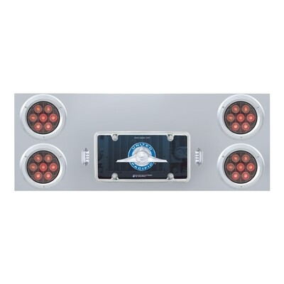 Stainless Steel Rear Center Panel with 8 LED Lights
