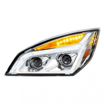 LED Projection Chrome Headlight for Freightliner Cascadia
