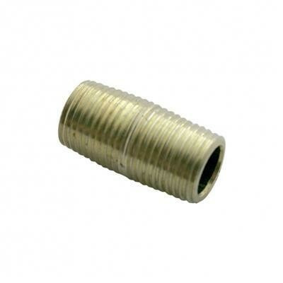 1/4 Inch Brass Close Nipple Connector
