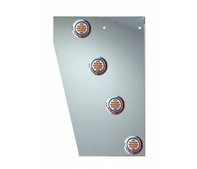 Peterbilt 389 Deluxe Cowl Panels with 10 Round LED Lights