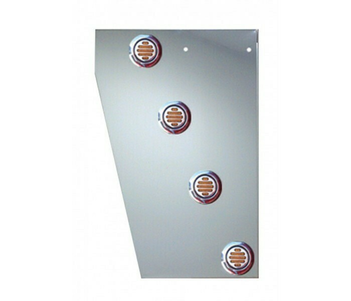 Deluxe Cowl Panels with 10 Round LED Lights for Peterbilt 389