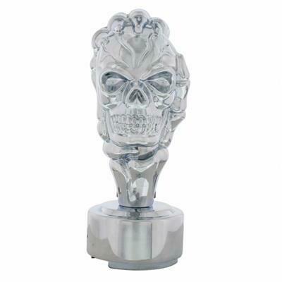 Chrome Skull Skeleton Hand Shift Knob Kit