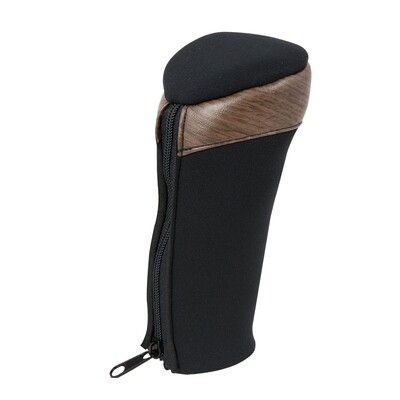 Neoprene Black Gear Shift Knob Cover with Matte Natural Wood Trim
