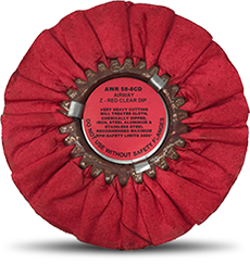 Airway Buffing Wheel Z Red Clear Dip 8