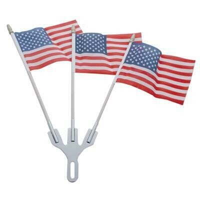 Stainless Steel Flag Holder with USA Flags