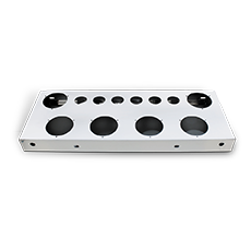Stainless Rear Center Panel with Light Holes