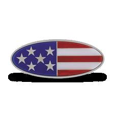 US Flag Emblem Peterbilt Style