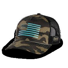 Ladies Camo Flag Mesh Hat