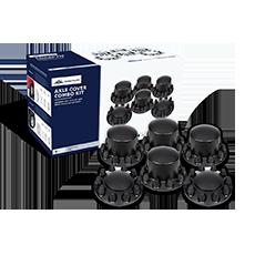 Matte Black Dome Axle Cover Kit