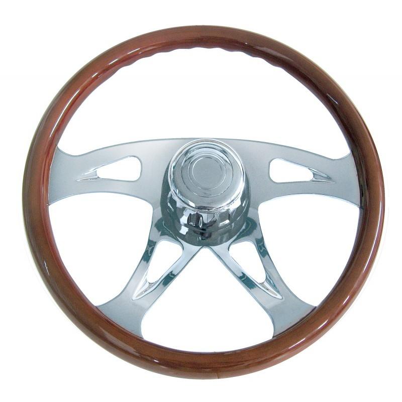 Peterbilt 98+, Kenworth 01+ Wood Steering Wheel 18 Inch