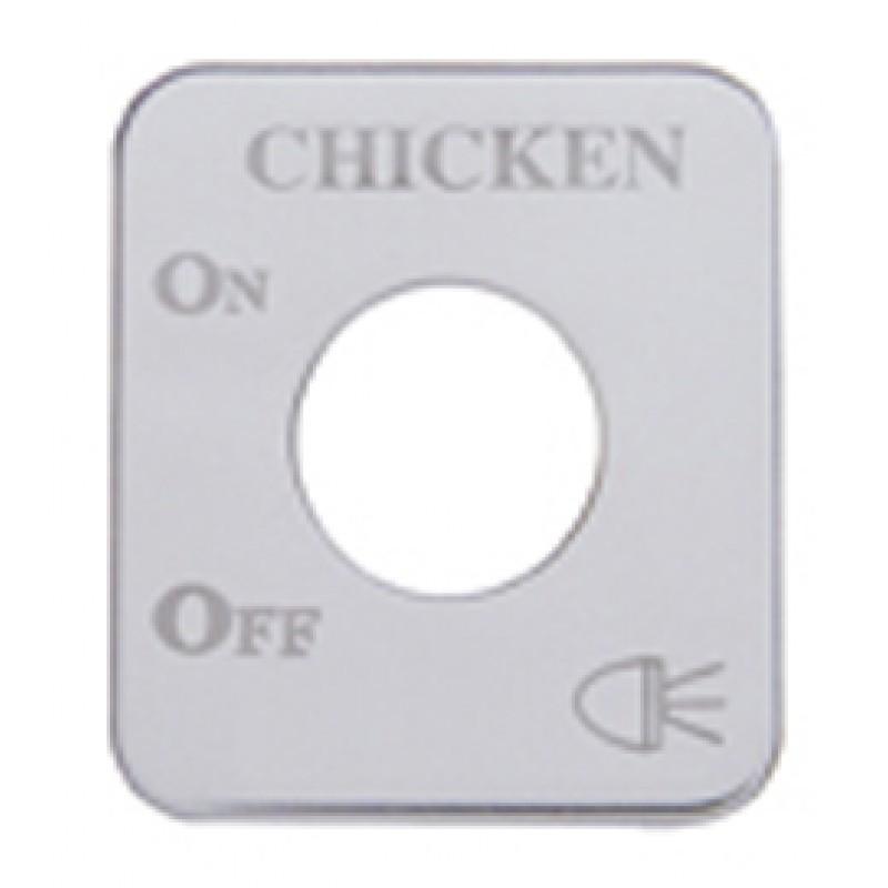 Freightliner Stainless Steel Chicken Light Switch Plate
