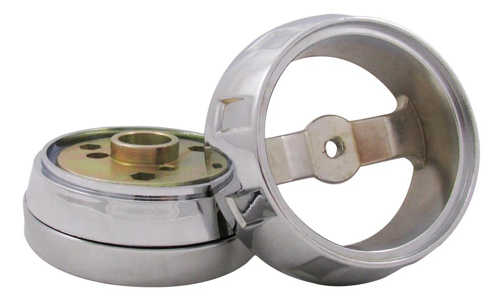Kenworth/Mack/Peterbilt/Volvo/Western Star Steering Wheel Hub Kit 3 Hole Chrome