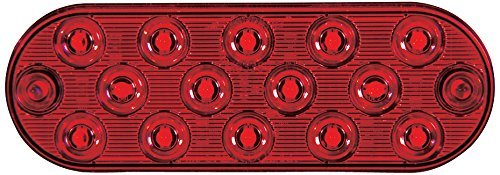Low Profile Thin Oval Red Surface Mount Stop/Tail/Turn Light