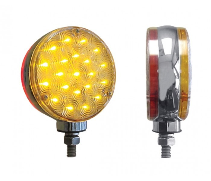 Double Face Combination with 40 LEDs Red/Amber