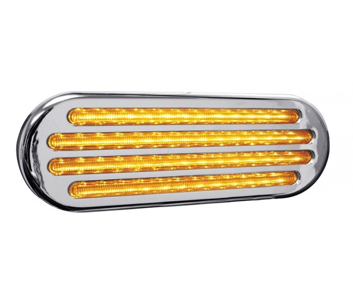 Flatline Oval Stop Turn and Tail 52 LED Light in Different Colors