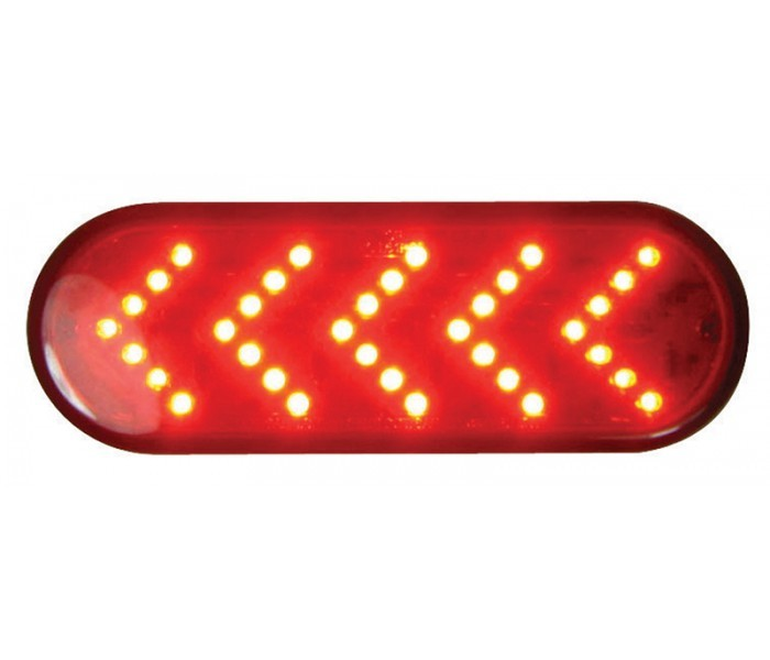 Oval Sequential Arrow 35 Diodes LED Light in Different Colors