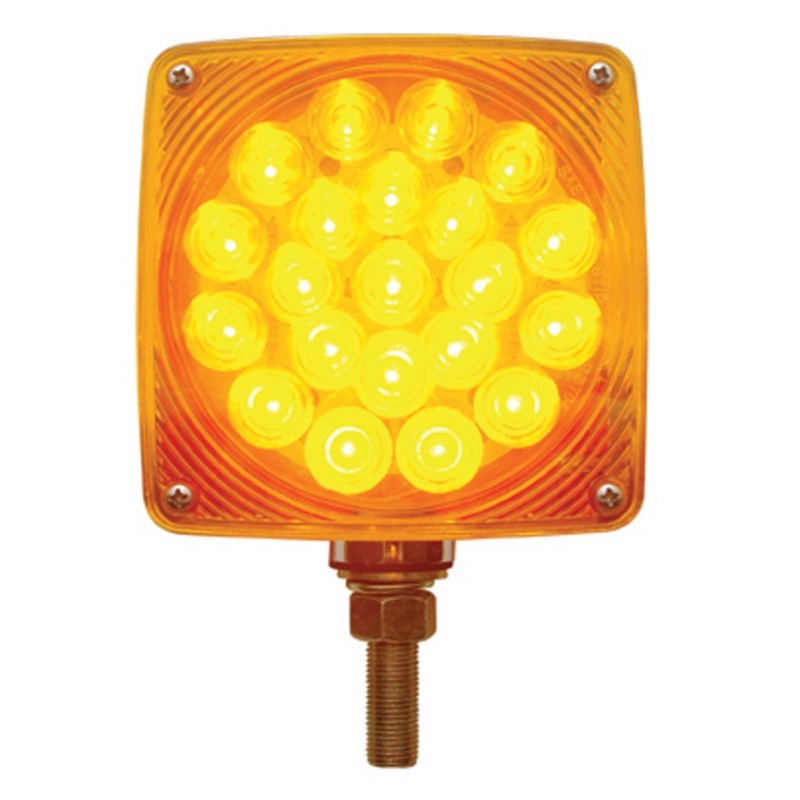 45 LED Double Face Turn Signal - Single Stud with Amber or Clear Lens