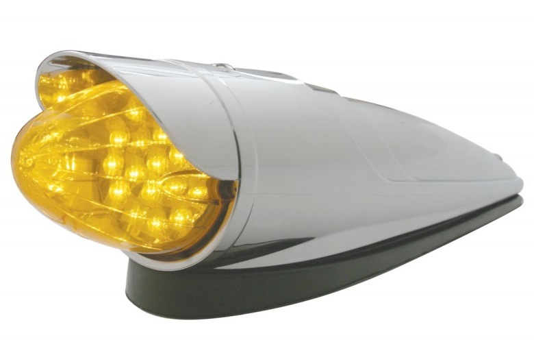 19 LED Reflector Grakon 1000 Cab with Housing and Visor in Amber or Clear Lens