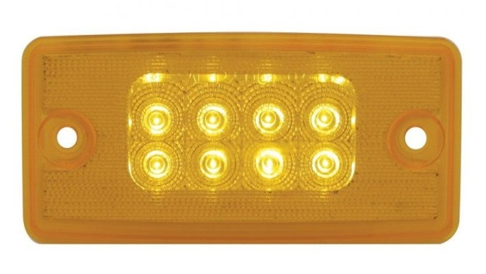 Freightliner 8 LED Reflector Cab Light with Amber or Clear Lens
