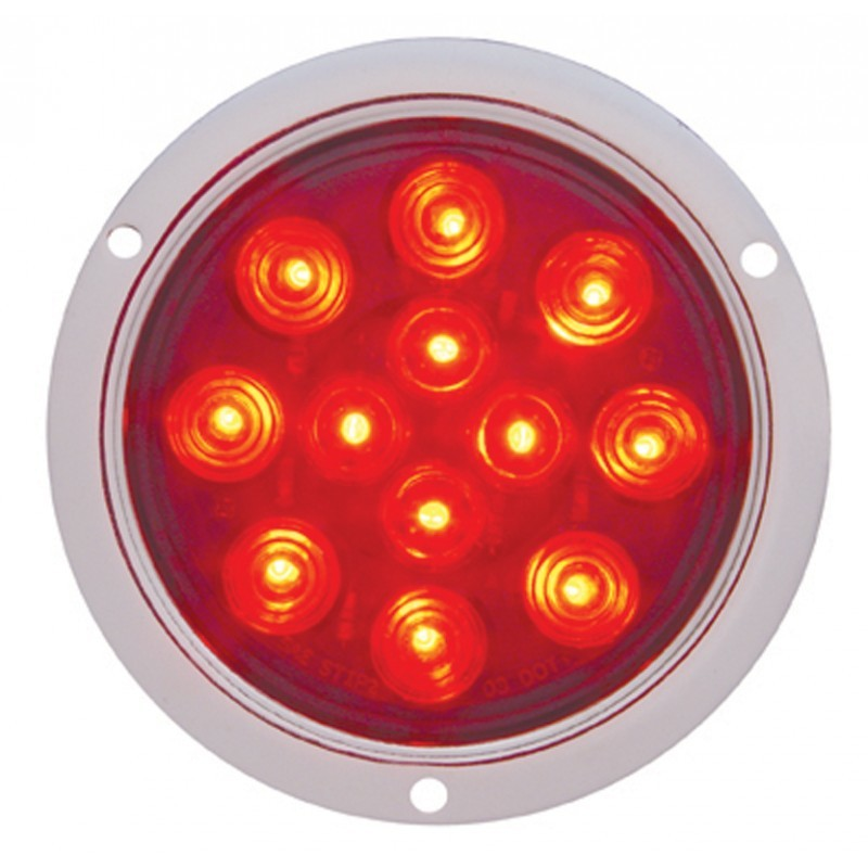 12 LED Deep Dish 4 Inch S/T/T with Bubble Lens