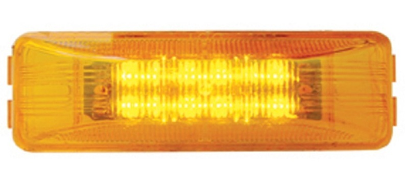 12 LED Rectangular Clearance/Marker Light with Red, Amber, or Clear Lens