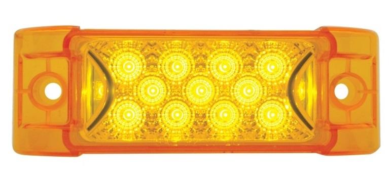 LED Reflector Rectangular Clearance Marker Light