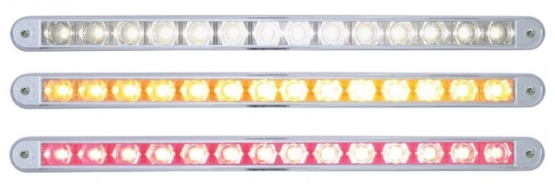 "2 High Power LED ""Hyper Mini14 LED 12 Inch Auxiliary Warning Light with Chrome Bezel"" Pedestal Light"