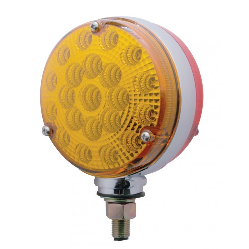 42 LED Reflector Double Face Turn Signal - Single Stud with Amber/Red or Clear Lens