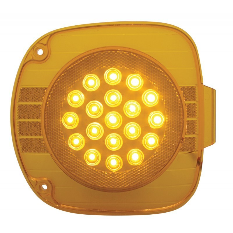 19 LED Turn Signal with Amber or Clear Lens for Freightliner