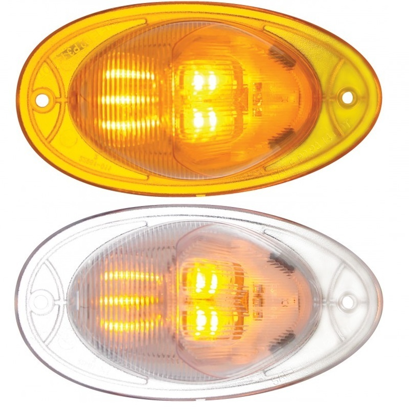 7 LED Freightliner Cascadia Turn Signal Light with Amber or Clear Lens