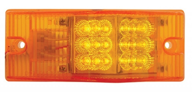 18 Amber LED Reflector Turn Signal with Amber or Clear Lens for Freightliner