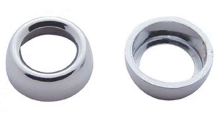 Chrome Toggle Switch Nut Cover for Freightliner - Set of 6