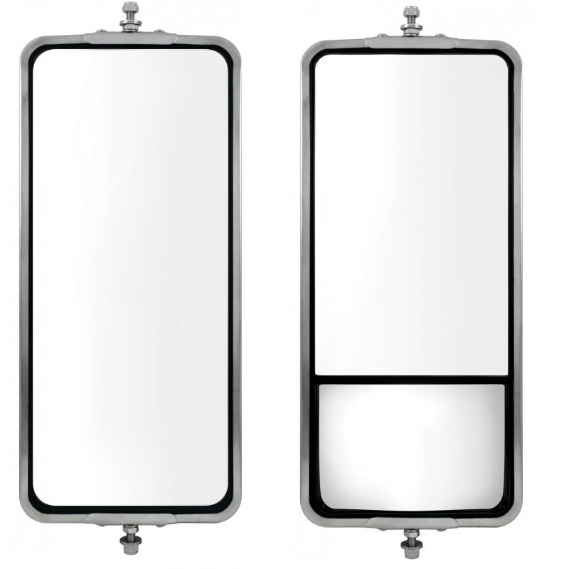 Stainless Steel West Coast Mirror - 7 Inch x 16 Inch in Different Options